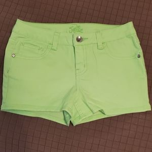 Girls Bright Green Stretch Shorts from Justice